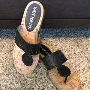 Sam & Libby Black Sandals, 8 1/2